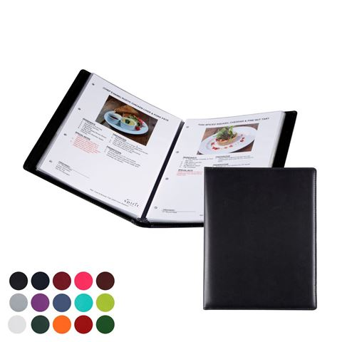 Picture of  A4 Information, Wine List or Menu Holder in Belluno, a vegan coloured leatherette with a subtle grain.