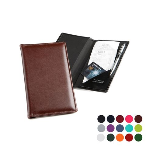 Picture of  Bill or Receipt Holder in Belluno, a vegan coloured leatherette with a subtle grain.