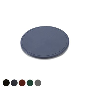 Picture of Hampton Leather Round Stitched Coaster, made in the UK in a choice of 5 colours.