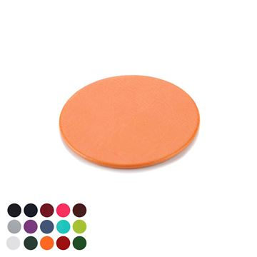 Picture of  Round Coaster in Belluno, a vegan coloured leatherette with a subtle grain.