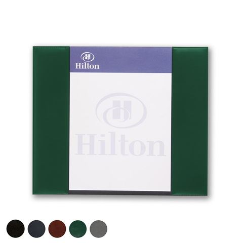 Picture of Hampton Leather A4 Desk Pad Holder, made in the UK in a choice of 5 colours.