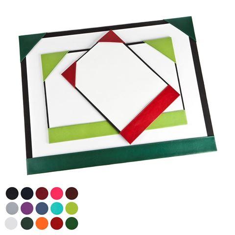 Picture of  A4 Desk Pad Blotter in Belluno, a vegan coloured leatherette with a subtle grain.