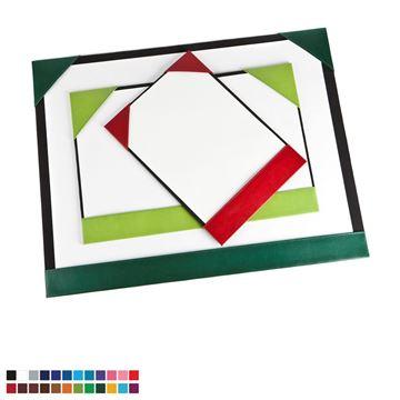 Picture of  A3 Desk Pad Blotter in Belluno, a vegan coloured leatherette with a subtle grain.