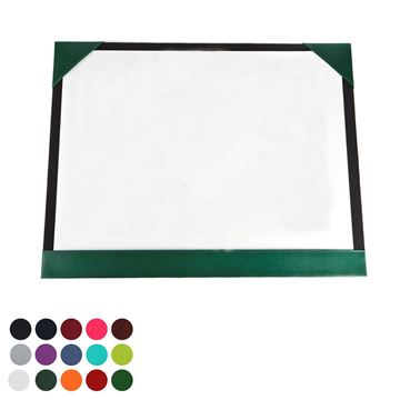 Picture of  A2 Desk Pad Blotter in Belluno, a vegan coloured leatherette with a subtle grain.