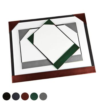 Picture of Hampton Leather A2 Desk Pad Blotter, made in the UK in a choice of 5 colours.