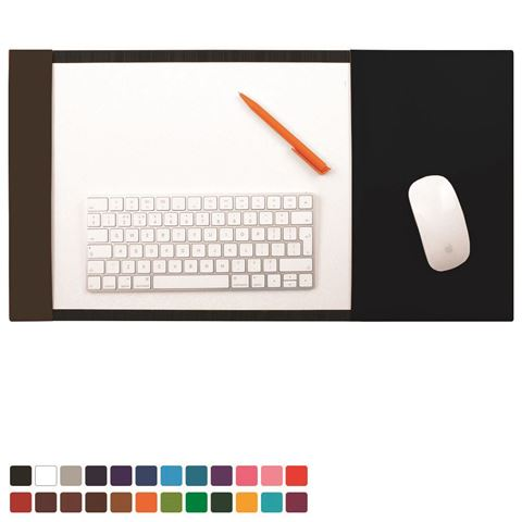 Picture of  A3 Desk Pad Blotter with Integral Mouse Mat in Belluno, a vegan coloured leatherette with a subtle grain.