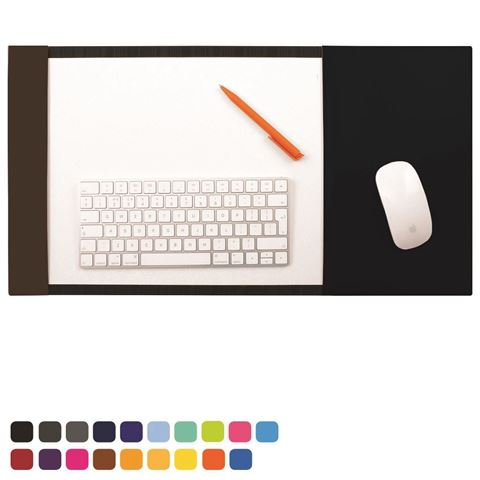 Picture of  A3 Desk Pad Blotter with Integral Mouse Mat in Soft Touch Vegan Torino PU.