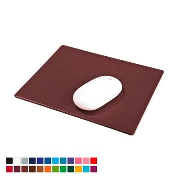 Picture of  Mouse Mat in Belluno, a vegan coloured leatherette with a subtle grain.
