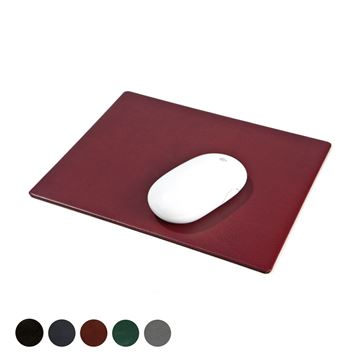 Picture of Hampton Leather Mouse Mat, made in the UK in a choice of 5 colours.