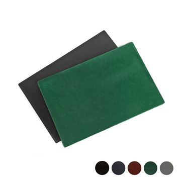 Picture of Hampton Leather Desk Pad, made in the UK in a choice of 5 colours.