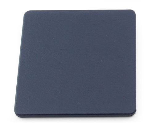 Picture of Recycled ELeather Square Stitched Coaster, made in the UK in a choice of 8 colours.