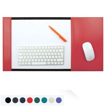 Picture of Recycled ELeather A3 Desk Pad Blotter with Integral Mouse Mat, made in the UK in a choice of 8 colours.