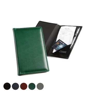 Picture of Hampton Leather Bill or Receipt Holder, made in the UK in a choice of 5 colours.