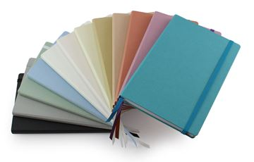 Picture of Cafeco Recycled A5 Casebound Notebook with Elastic Strap