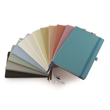 Picture of Cafeco Recycled A5 Casebound Notebook with Elastic Strap & Pen Loop